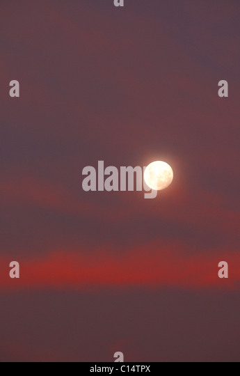 Moon over Patagonia, Argentina - Stock Image