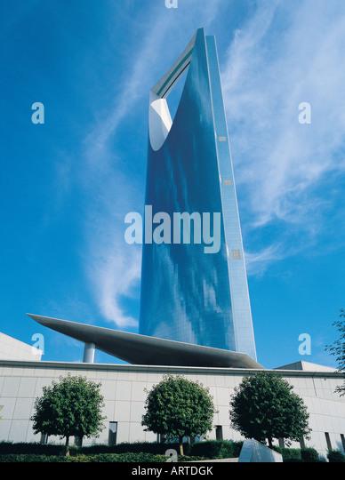 Al Mamlakah (Kingdom) Tower in Riyadh, Saudi Arabia - Stock Image