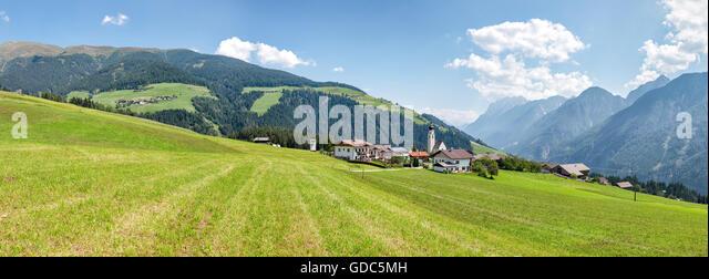 Unterried,Austria,Pustertaler Höhenstrasse - Stock Image