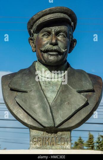 escultura del poeta Jose Grimaldi Accotto, 1911-1992, Punta Arenas -Sandy Point-, Patagonia, República de Chile,América - Stock Image