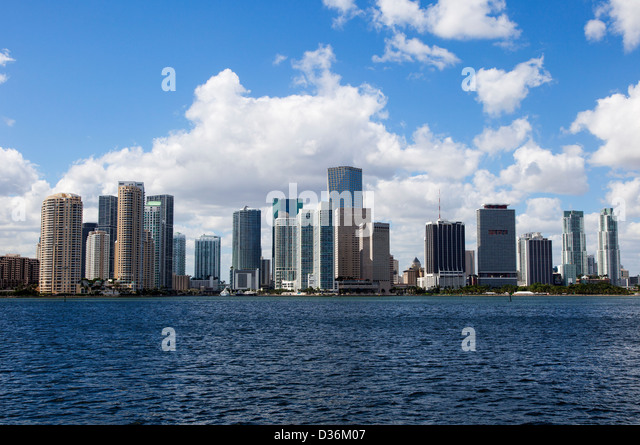 Miami Skyline, USA - Stock Image