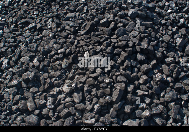 a pile, stack of coal - Stock Image