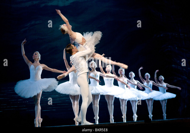 Russia, St.Petersburg; Prince Sigfried played by Yuri Kalinin, performing in Tchaikovsky's 'Swan Lake' - Stock Image