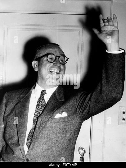 Silent Film actor Harold Lloyd waving - Stock Image