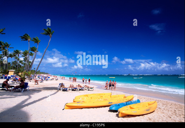 Playa Bavaro near Punta Cana, Dominican Republic, Caribbean - Stock Image
