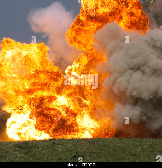 Car explosion. Artist: Unknown. - Stock Image