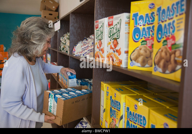Food Bank - Stock Image