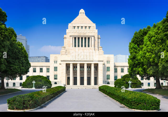 Japanese Diet House in Tokyo, Japan. - Stock Image