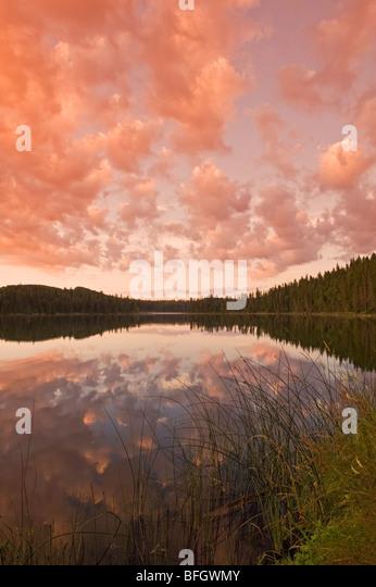 Sunrise at Perch Lake. Duck Mountain Provincial Park, Manitoba, Canada - Stock Image