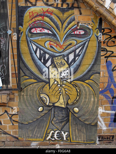Berlin Mitte,Street art on walls,Germany - Stock Image