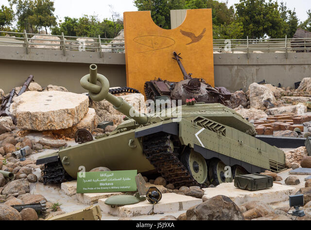 Israeli tank in the war museum operated by Hezbollah called the tourist landmark of the resistance or museum for - Stock-Bilder
