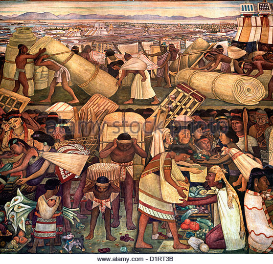 Tenochtitlan mexico stock photos tenochtitlan mexico for Diego rivera tenochtitlan mural