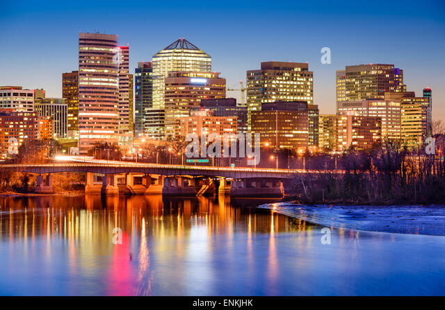 Rosslyn, Arlington, Virginia, USA downtown skyline on the Potamac River. - Stock Image