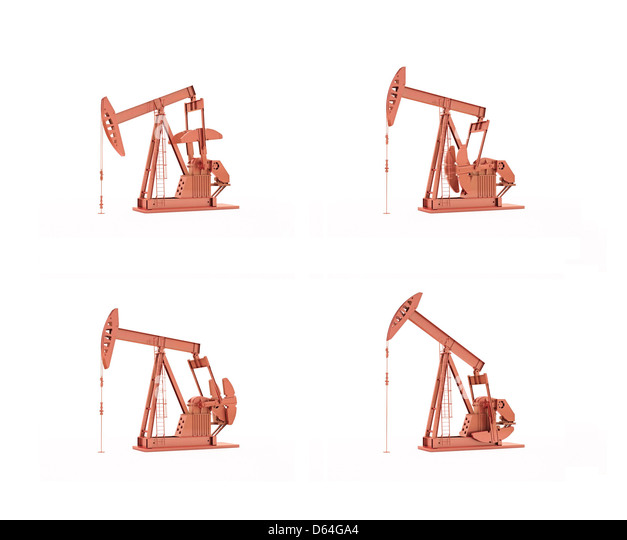 Oil pumps, artwork - Stock-Bilder