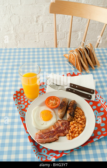 English breakfast - Stock Image