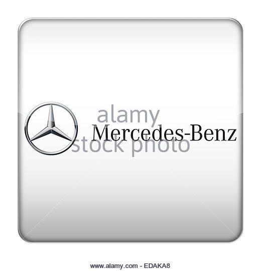Mercedes benz logo icon stock image