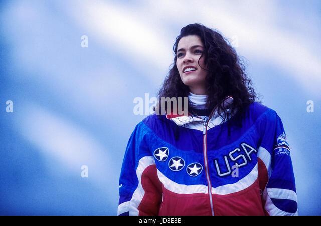 Nancy Kerrigan (USA), bronze medalist competing at the 1992 Olympic Winter Games - Stock-Bilder