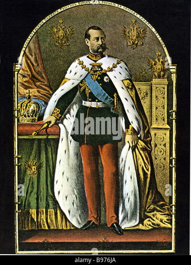 ALEXANDER III  Tsar of Russia 1845 to 1894 - Stock Image