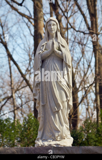 The National Shrine Grotto of Our Lady of Lourdes, Emmitsburg, Maryland. - Stock Image