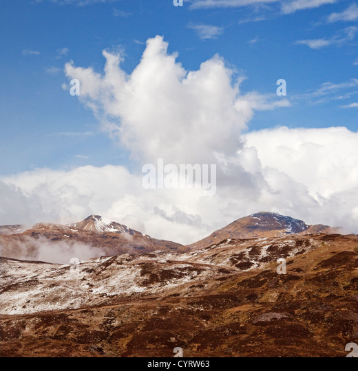 Ben More and Stobinian (Stob Binnein) from the Kirkton Pass - Stock Image