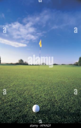 Golf ball UK - Stock Image