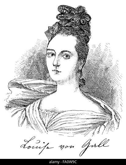 Louise von Gall, 1815-1855, a German novelist and social critic - Stock-Bilder