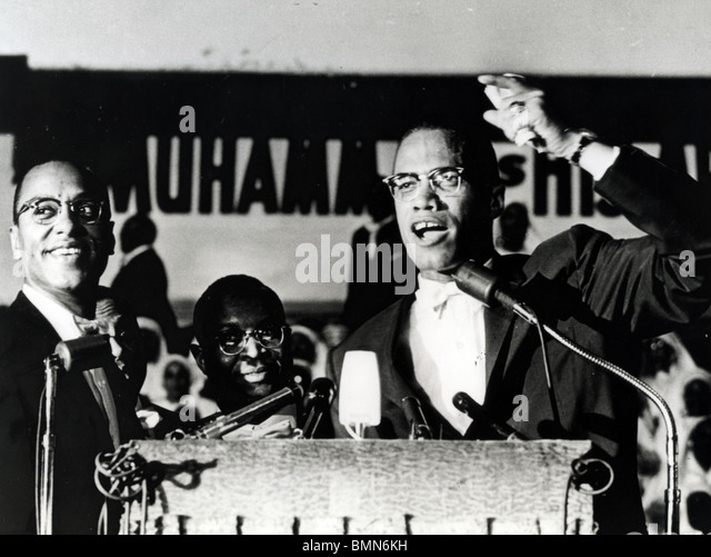 MALCOLM X  (1925-1965) African-American minister and human rights activist as head of the self-styled Nation of - Stock Image