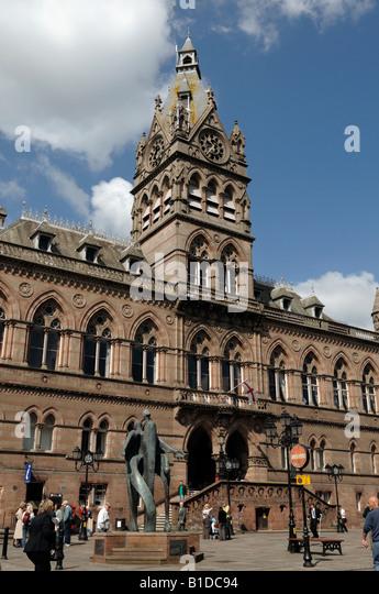 Chester Town Hall Chester City centre - Stock-Bilder