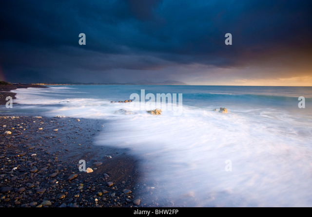 Gooch's Beach, Kaikoura, South Island, New Zealand - Stock Image