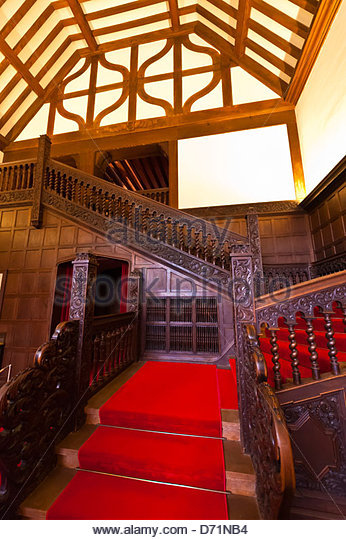 The meeting room used by Truman, Churchill and Stalin) in the Cecilienhof Palace (site of the Potsdam conference - Stock Image