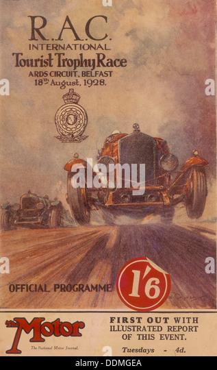 A programme for the RAC International Tourist Trophy Race, Belfast, Northern Ireland, 1929. - Stock Image