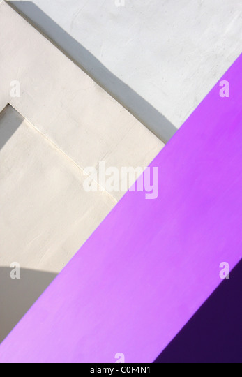 Geometric abstraction on the city wall - Stock Image