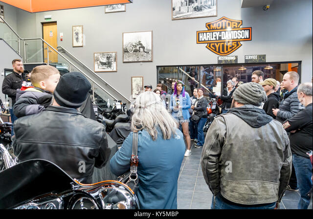 Uppingham, Oakham 13th January 2018 : Harley-Davidson's annual Battle of the Kings contest for European dealers, - Stock Image