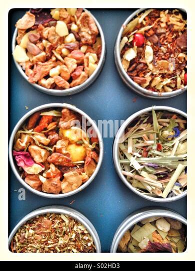 Exotic teas - Stock Image