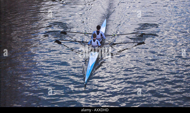 sport rowing sculling - Stock Image