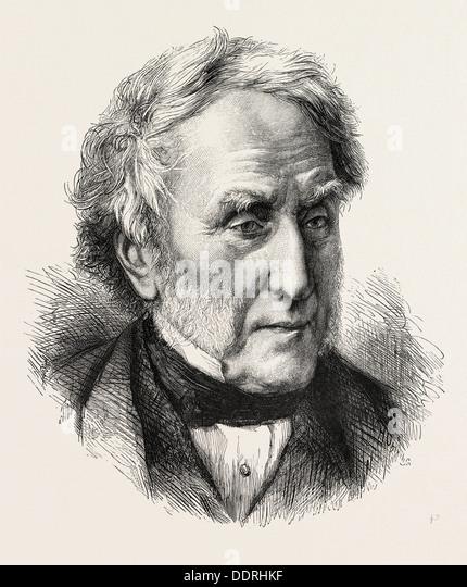 THE HON. STEPHEN LUSHINGTON, P.C., D.C.L., 1873 engraving - Stock Image