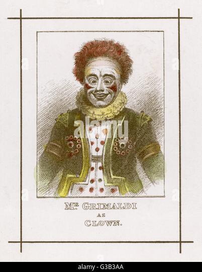 JOSEPH GRIMALDI  Clown        Date: 1778 - 1837 - Stock Image
