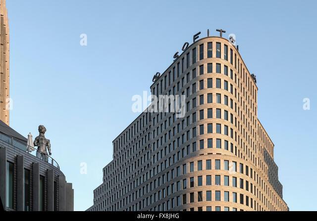 Modern Architecture, Sofitel Hotel, Uhland Street, City West, Berlin - Stock Image