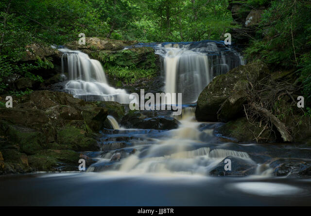 Water Arc Foss (Upper Thomason Foss) waterfall between Goathland and Beck Hole in the North Yorkshire Moors National - Stock Image