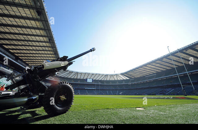THE HONOURABLE ARTILLERY COMPA ENGLAND RU V WALES RU TWICKENHAM LONDON ENGLAND 09 March 2014 - Stock Image