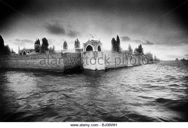 San Michele Cemetery, ?The Island of the Dead?, Venice, Italy - Stock-Bilder