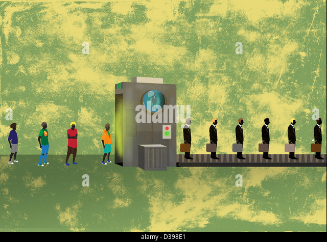 Illustrative concept of business training process - Stock Image