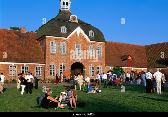 Schleswig-Holstein Music Festival, Gut Hasselburg, Schleswig-Holstein, Germany, Europe - Stock Image