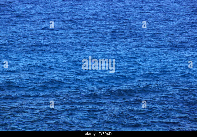 Ocean Water ripples off the coast if Oahu.  Good for backgrounds textures. - Stock Image