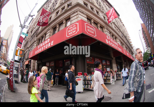 There are over 18 miles of books at the Strand Bookstore in the New York neighborhood of Greenwich Village - Stock Image