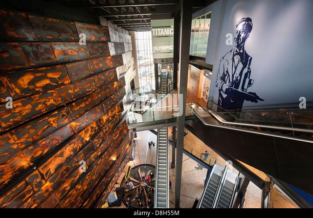Titanic Belfast interior - Stock-Bilder