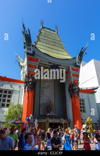 TCL Chinese Theatre (formerly Mann's Chinese Theatre), Hollywood Boulevard, Hollywood, Los Angeles, California, - Stock Image
