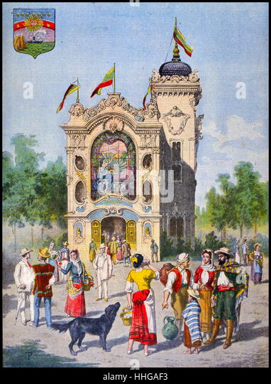 Ecuador, has its pavilion, at the Exposition Universelle of 1900 - Stock Image