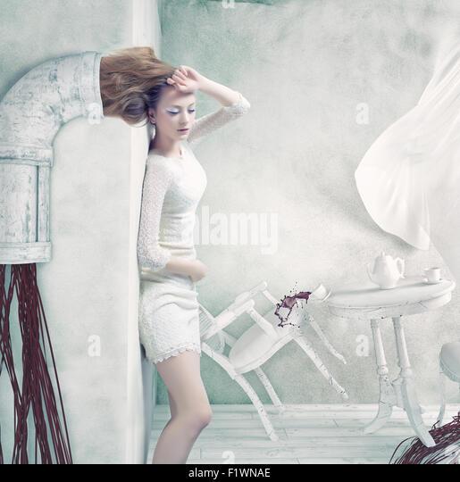 Industrial Rapunzel. Creative concept. - Stock-Bilder
