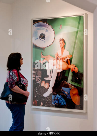 Prague, Czech Republic. 21st Mar, 2016. The exhibition entitled Muses by David LaChapelle at Dvorak Sec Contemporary - Stock Image